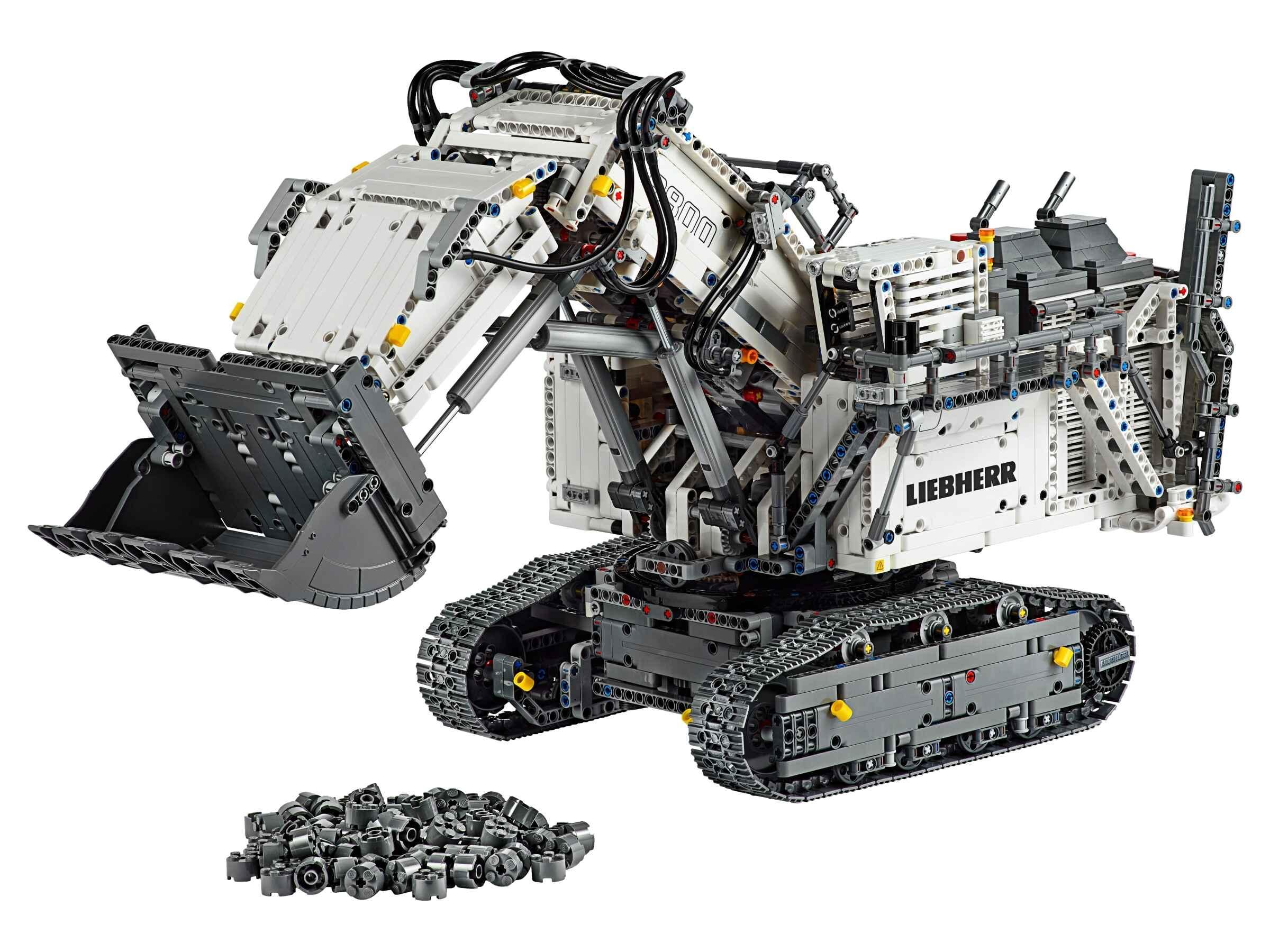 LEGO 42100 Technic Liebherr Bagger R 9800, App-gesteuerte Konstruktionsspielzeug