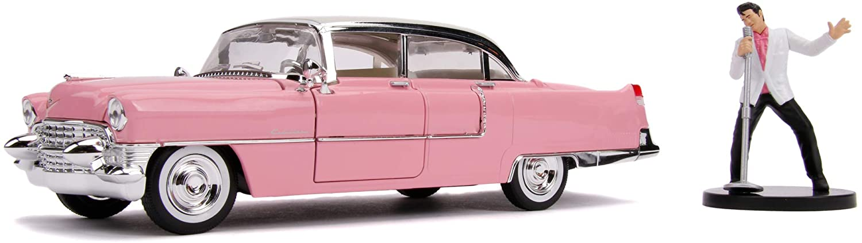 Jada Toys Elvis Presley Cadillac Fleetwood, 1955, Auto,  inkl. Elvis Figur,