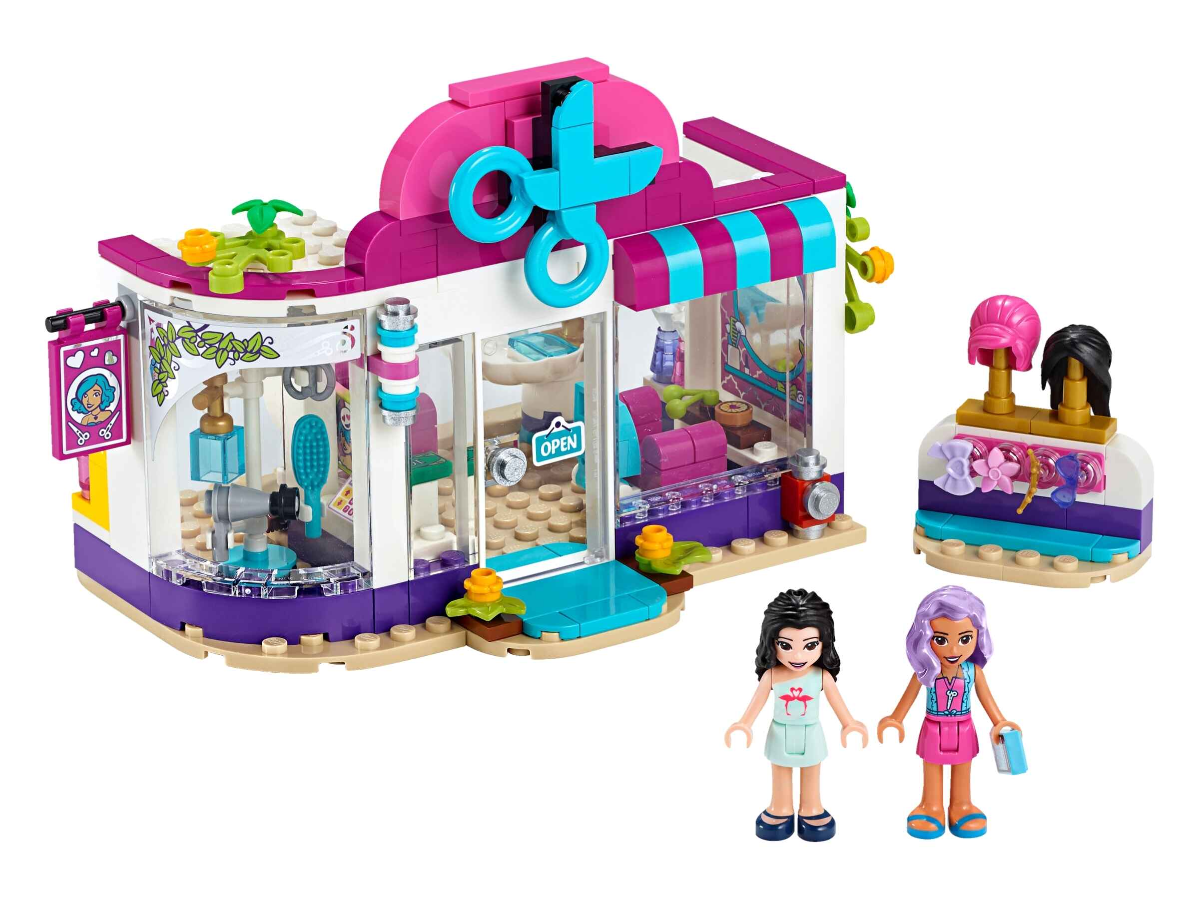 LEGO 41391 Friends Friseursalon von Heartlake City Set mit Mini Puppe Emma