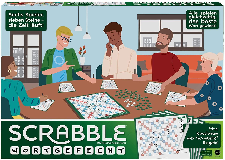 Mattel Games GTJ27 Scrabble Wortgefecht Kreuzworträtsel Brettspiel
