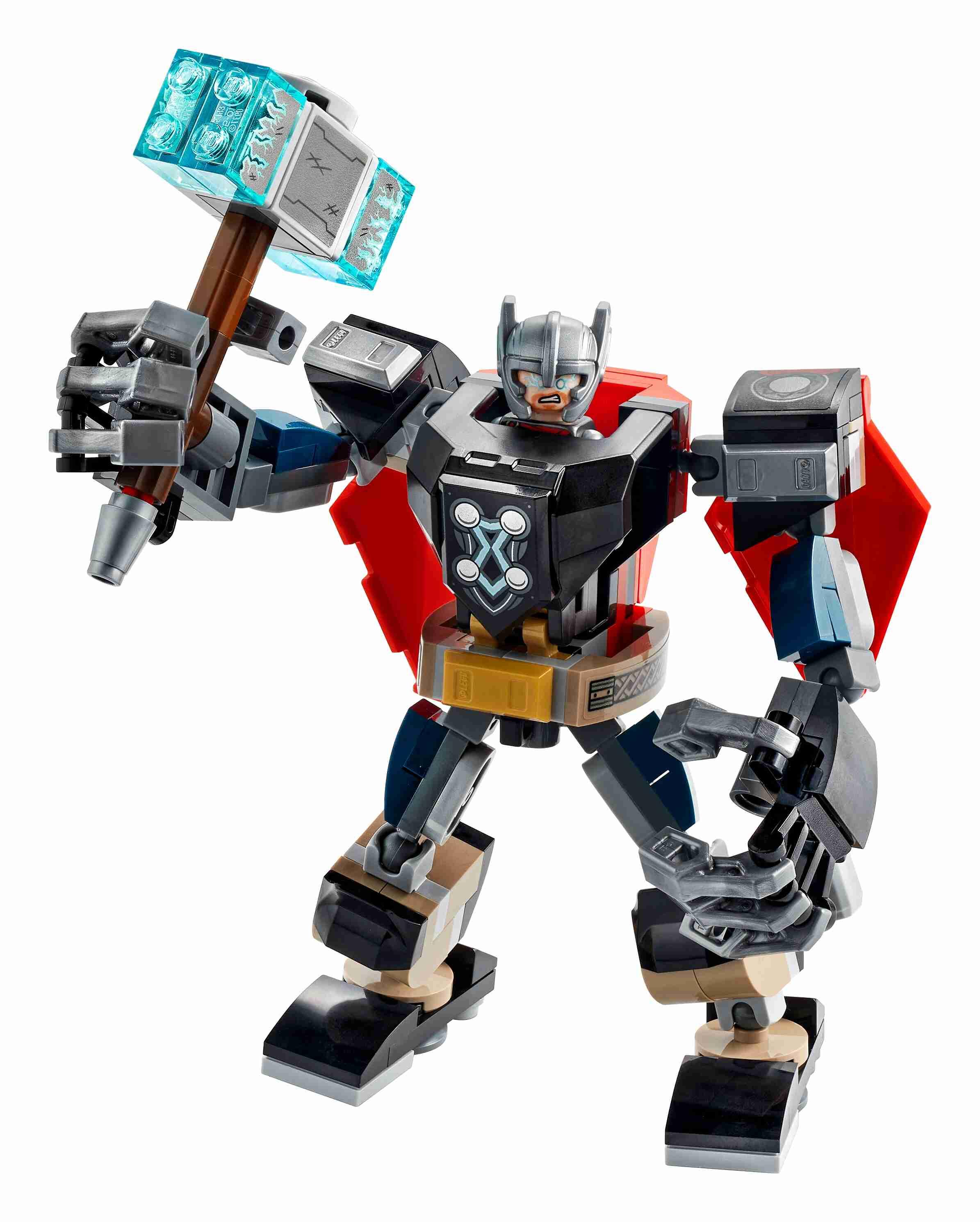 LEGO 76169 Super Heroes Marvel Avengers Thor Mech Set, Actionfigur mit Thor