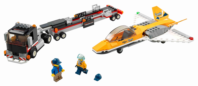 LEGO 60289 City Flugshow-Jet-Transporter mit Anhänger + 2 Minifiguren