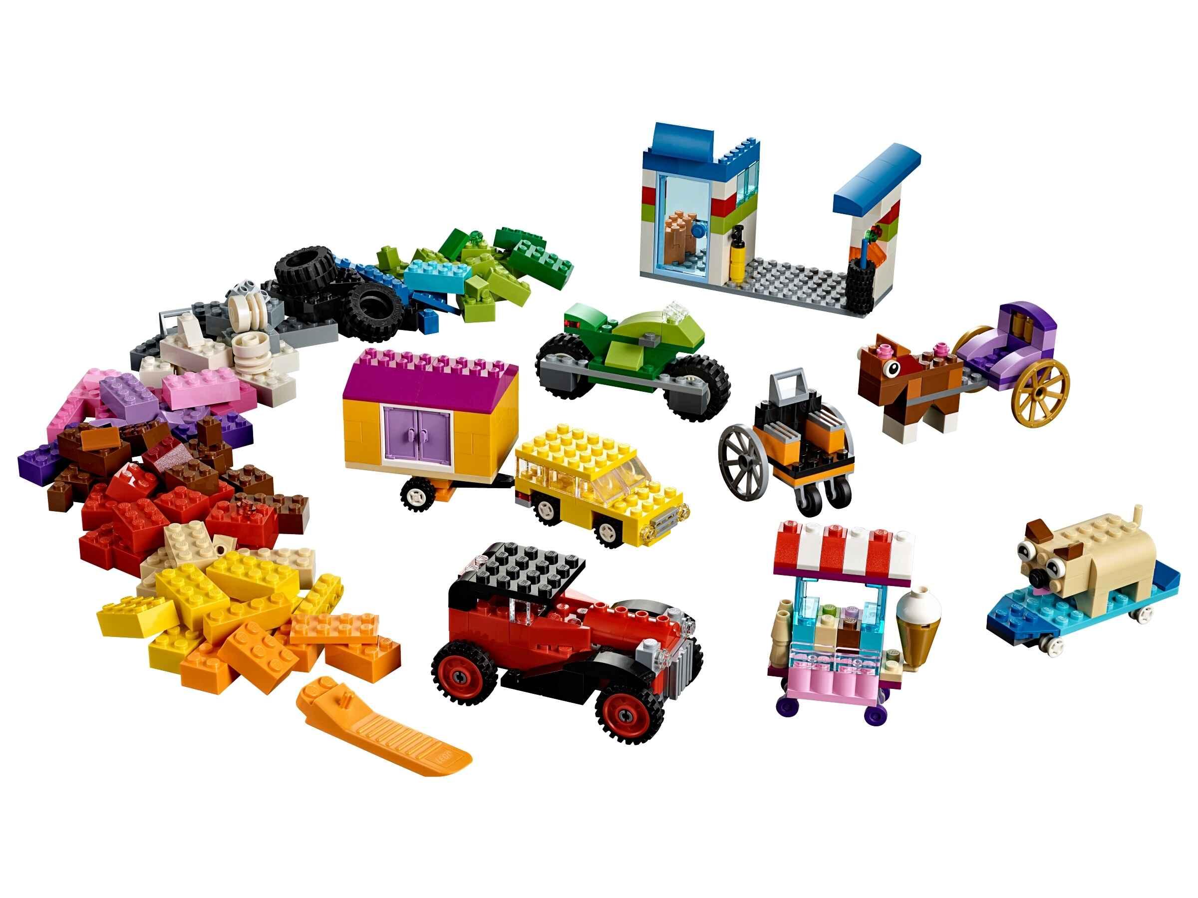 LEGO 10715 Classic Kreativ-Bauset Fahrzeuge, Bunte Bausteine (422 Teile)