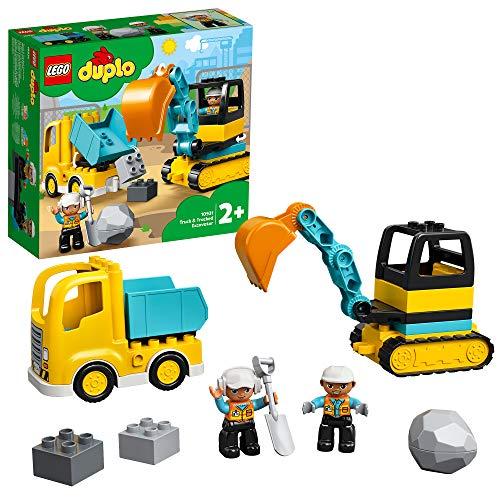 LEGO 10931 DUPLO Bagger und Laster Baufahrzeug Spielzeugset für Kleinkinder ab 2
