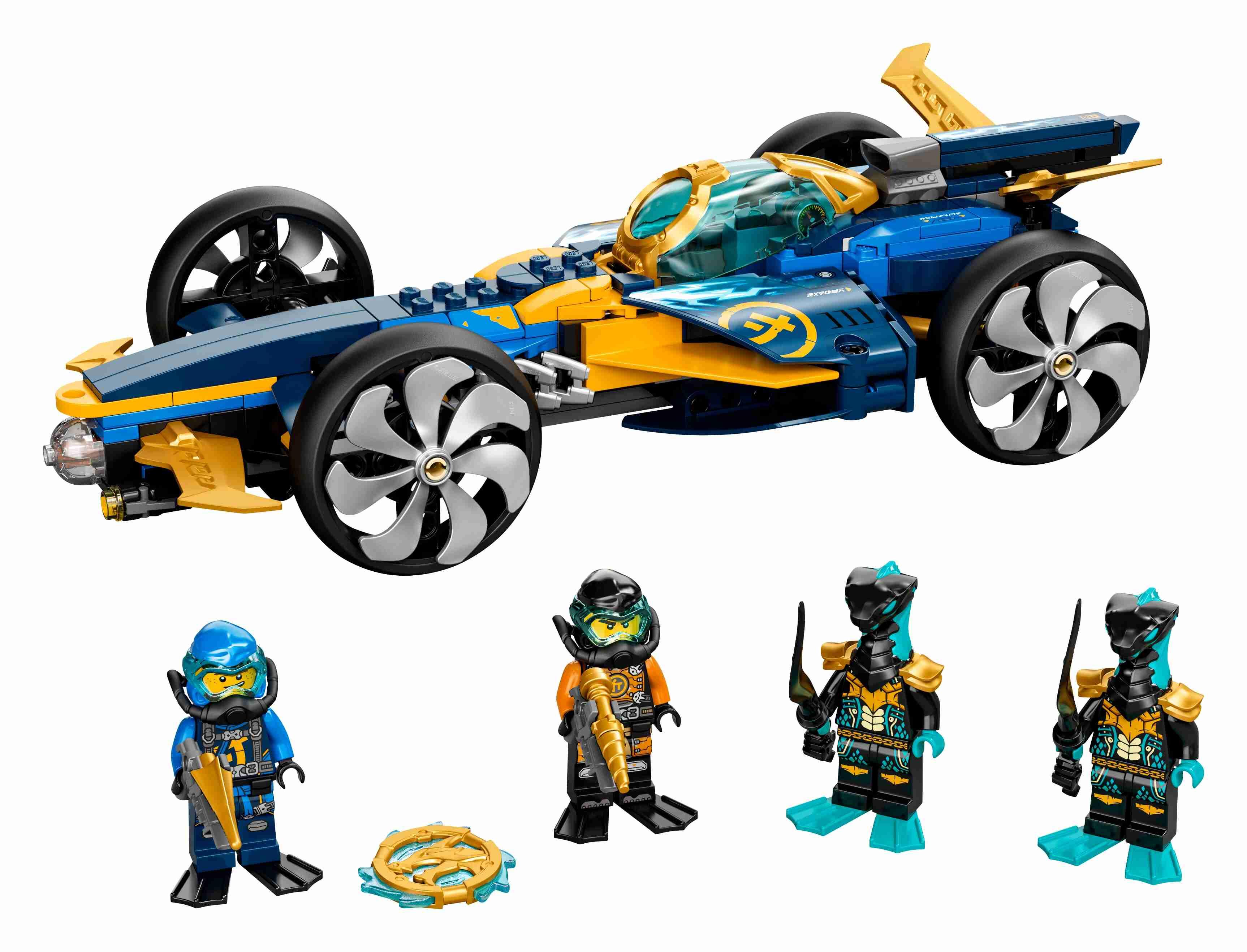 LEGO 71752 NINJAGO Ninja-Unterwasserspeeder, U-Boot-Set, 4 Ninja Mini Figuren