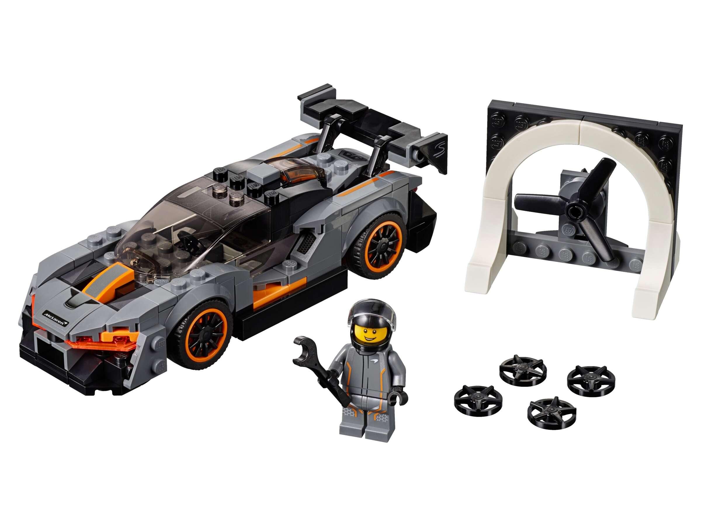 LEGO 75892 Speed Champions McLaren Senna Rennwagen + Rennfahrer-Minifigur