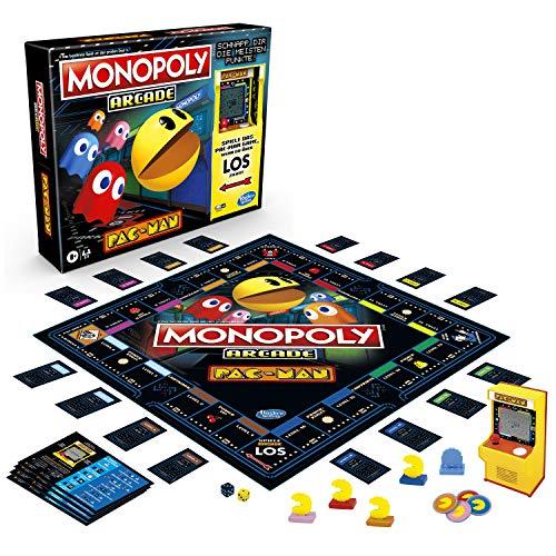 Hasbro Monopoly Arcade Pac-Man, Monopoly Brettspiel  inklusive Arcade-Automat