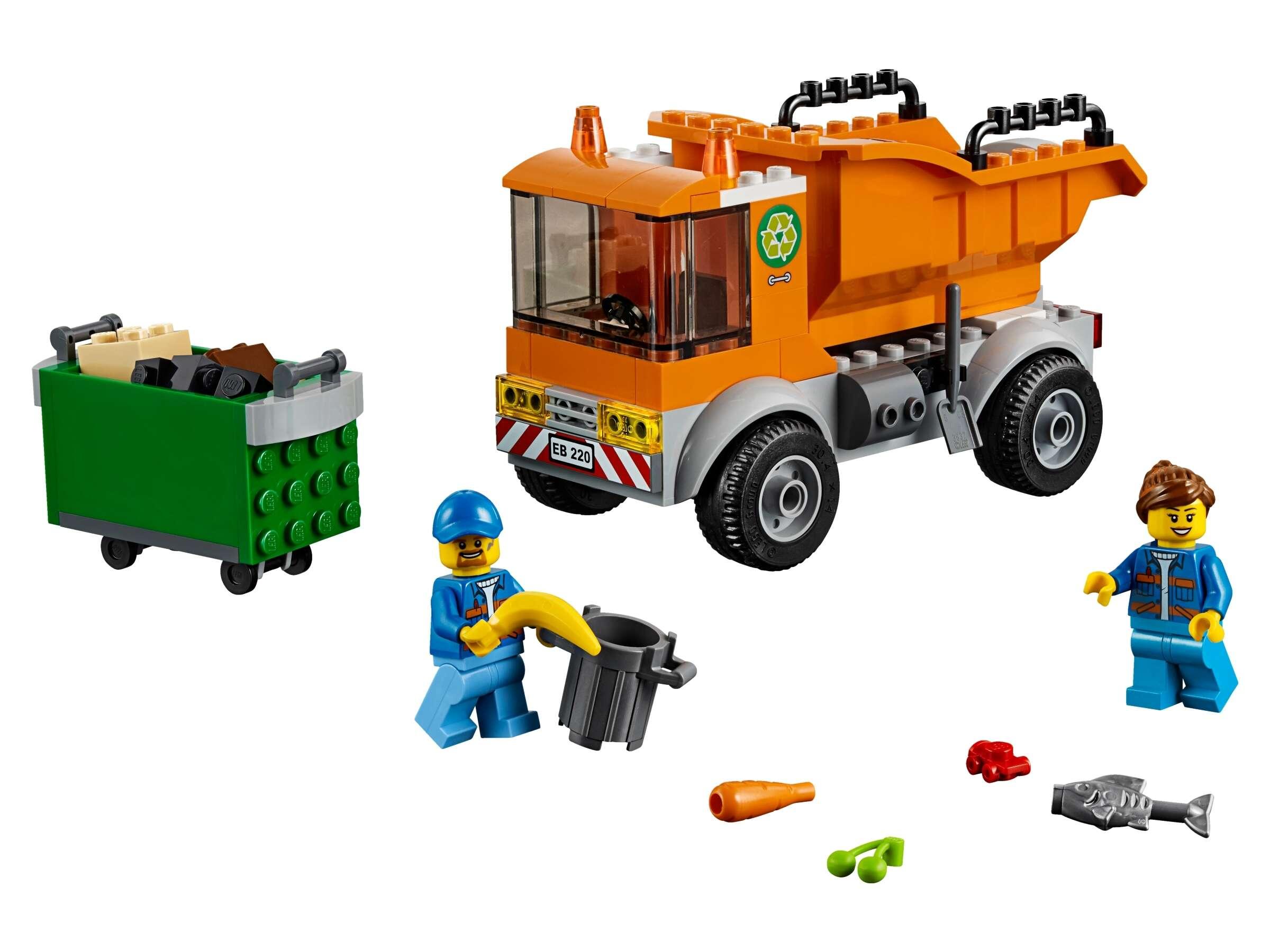 LEGO 60220 City Müllabfuhr mit 2 Müllarbeiter Minifiguren