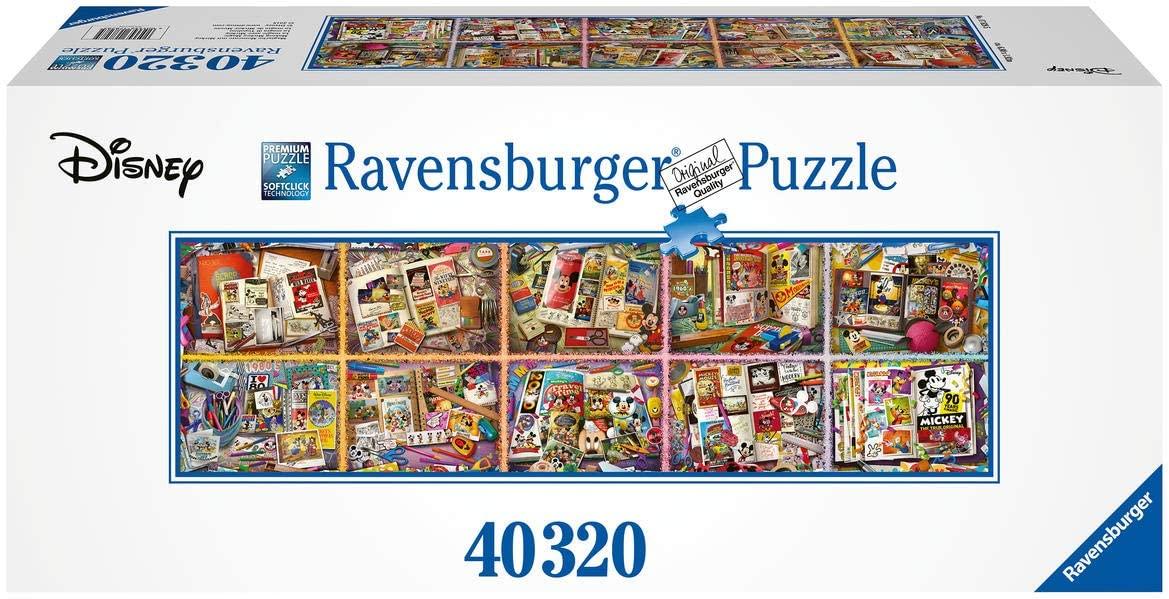 Ravensburger Puzzle 17828 - Mit Mickey auf Zeitreise mit 40.320 Teilen!