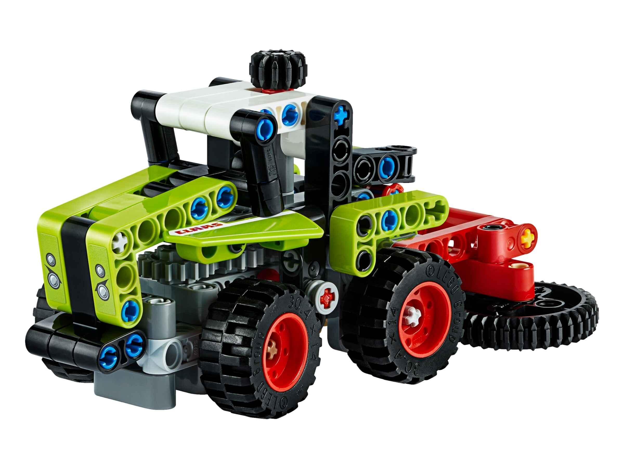 LEGO42102TechnicMiniCLAASXERIONTraktor&Feldhäcksler,2-in-1Bausatz